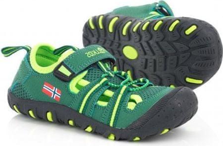 Trollkids chlapecké sandály Kids Sandefjord zelená 29