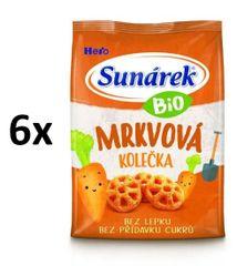 Sunárek Bio křupky mrkvová kolečka 6x50g (CZ-BIO-003)