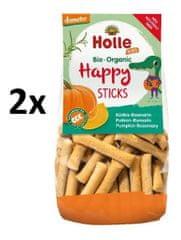 Holle Bio organické obilné Happy tyčinky s tekvicou a rozmarínom - 2 x 100g