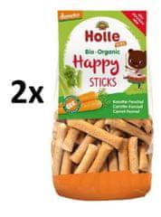 Holle Bio organické obilné Happy tyčinky s mrkví a fenyklem- 2 x 100g
