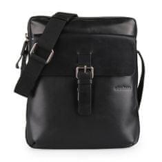 Strellson Pánská kožená taška přes rameno Scott 4010002034