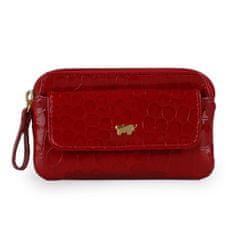 Braun Büffel Dámská kožená klíčenka Glanzkroko 40002-020, červená