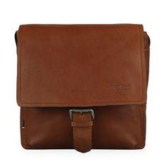 Strellson Pánská kožená taška přes rameno Turnham 2 4010002585