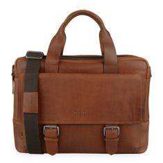 Strellson Pánská kožená taška na notebook Turnham 2 4010002583