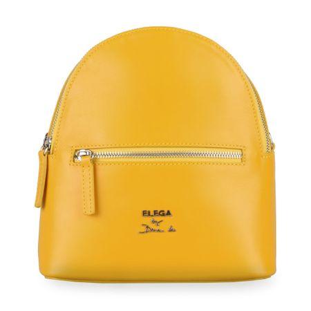 Elega By Dana M Dámský kožený batoh Bohemica 69420 žlutá