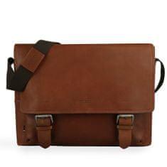 Strellson Pánská kožená taška přes rameno Turnham 2 4010002584