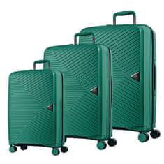 March Sada cestovních kufrů Gotthard S + M + L, zelená