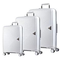 March Sada cestovních kufrů Gotthard S + M + L, bílá