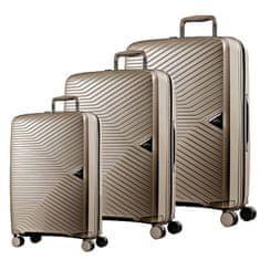 March Sada cestovních kufrů Gotthard S + M + L, bronzová