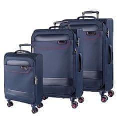 March Sada cestovních kufrů Tourer S + M + L, tmavě modrá
