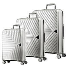 March Sada cestovních kufrů Gotthard S + M + L, stříbrná