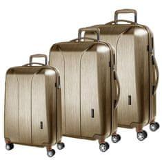 March Sada cestovních kufrů New Carat S + M + L, zlatá