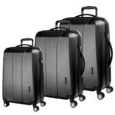 March Sada cestovních kufrů New Carat S + M + L, černá
