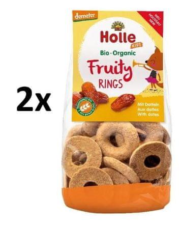 Holle Bio organické ovocné kroužky s datlemi - 2 x 125g
