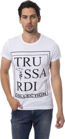 Trussardi koszulka męska L biała