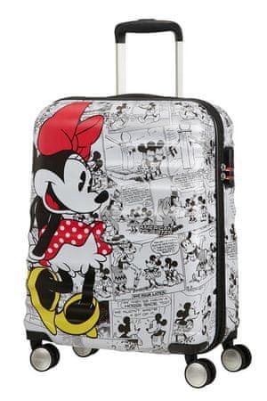 American Tourister Kabinový cestovní kufr Wavebreaker Disney Spinner 31C 36 l Minnie Comics White