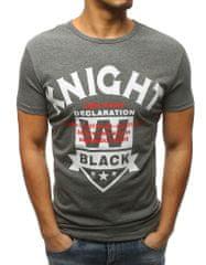 BUĎCHLAP Antracitové štýlové tričko KNIGHT