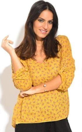 Lin Blanc dámská lněná tunika žlutá 38