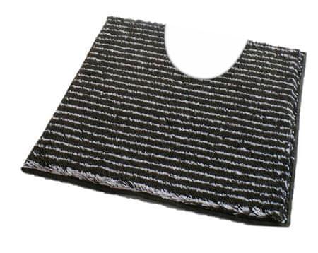 ROUTNER Fürdőszoba-szőnyeg, cseh produkció, PESCINA Antracit - 50 x 50 cm WC
