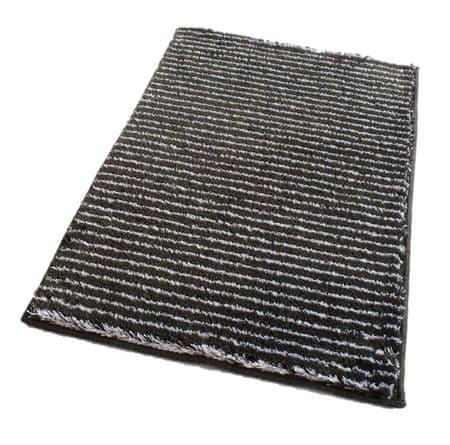ROUTNER Fürdőszoba-szőnyeg, cseh produkció, PESCINA Antracit - 60 x 100 cm