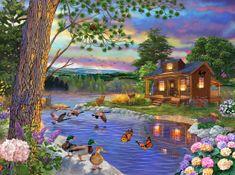 SunsOut Puzzle 1000 dílků Bigelow Illistrations - Peace River