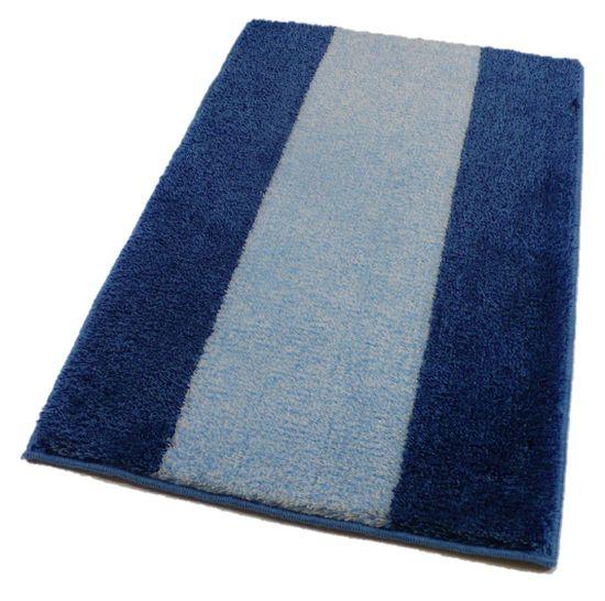 ROUTNER Kúpeľňová predložka, česká výroba, ATHENA modrá - 50 x 80 cm