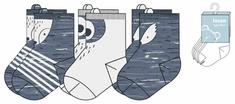 Losan chlapecký set tří párů ponožek