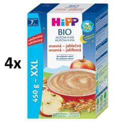 HiPP BIO Mléčná kaše na dobrou noc ovesná s jablkem 4 × 450g