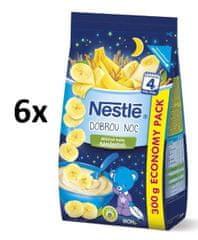 Nestlé Kaše na dobrou noc banánová 6x300g