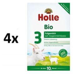 Holle Bio detská mliečna výživa na báze kozieho mlieka 3 - 4 x 400g