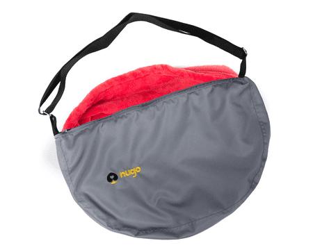 Nugo taška - Stříbřitá šedá s barevnou vložkou - červená