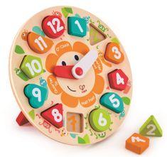 Hape puzzle ura z zabavnimi kužki