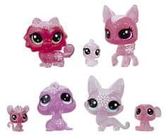 Littlest Pet Shop Állatkák a Jégvarázsból, 7 db, rózsaszín