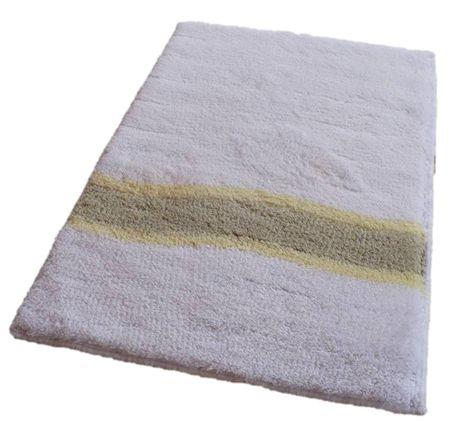 ROUTNER Fürdőszoba-szőnyeg, cseh produkció, LAVELLO Fehér - 80 x 150 cm
