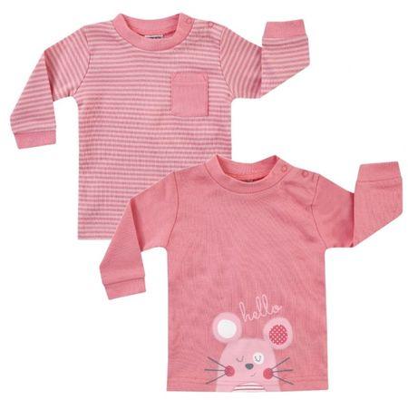 BOLEY 2 pólóból álló garnitúra lányoknak, 62 - 68, rózsaszín