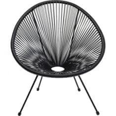 KARE Černá židle s výpletem Acapulco