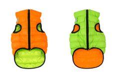 Airyvest Teplá vesta pro psa AiryVest oranžovo zelená