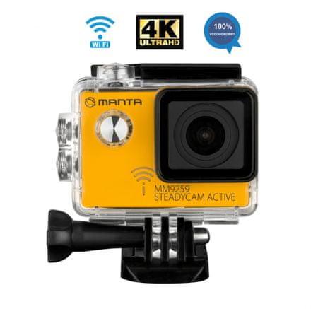 Manta MM9259 Steadycam Active, aktivna športna kamera - Odprta embalaža