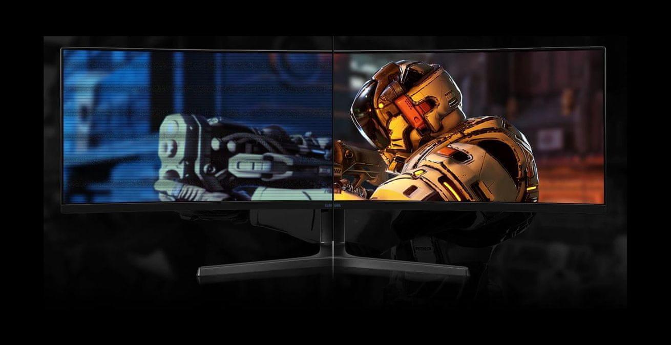 herní monitor Samsung C49RG90 (LC49RG90SSUXEN) šetří oči technologie flicker free eye saver režim