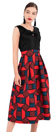 Closet London Dámské šaty Closet Gold 2-In-1 Full Skirt Dress Navy (Velikost XL)