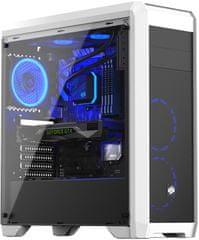 SilentiumPC RG4T RGB Frosty White, okno, biela