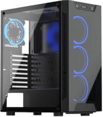 SilentiumPC Armis AR5X TG RGB, okno, čierna