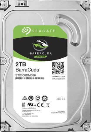 "Seagate BarraCuda, 3,5"" - 2TB"