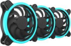 SilentiumPC Sigma HP Corona RGB 120, súprava ventilátorov, 3x120mm, RGB LED