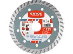 Extol Premium Kotouč diamantový řezný turbo Long Life, 125x22,2mm, suché i mokré řezání