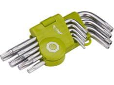 Extol Craft L-klíče TORX krátké, sada 9ks, T 10-15-20-25-27-30-40-45-50