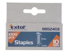 Extol Premium Klince do sponkovacej pištole 1000ks, dĺžka/L 12mm