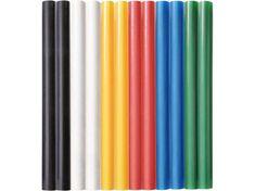 Extol Craft Tyčinky tavné farebné 12ks, B/Z/M/Če/Ž/Či, pr.7,2mm, dĺžka 100mm