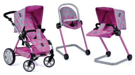 Hauck zestaw dla lalek 5w1 Icoo - wózek 3w1, fotelik, leżanka
