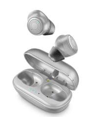 CellularLine Petit brezžične slušalke (TWS) s polnilno prenosno torbico, sive - Odprta embalaža
